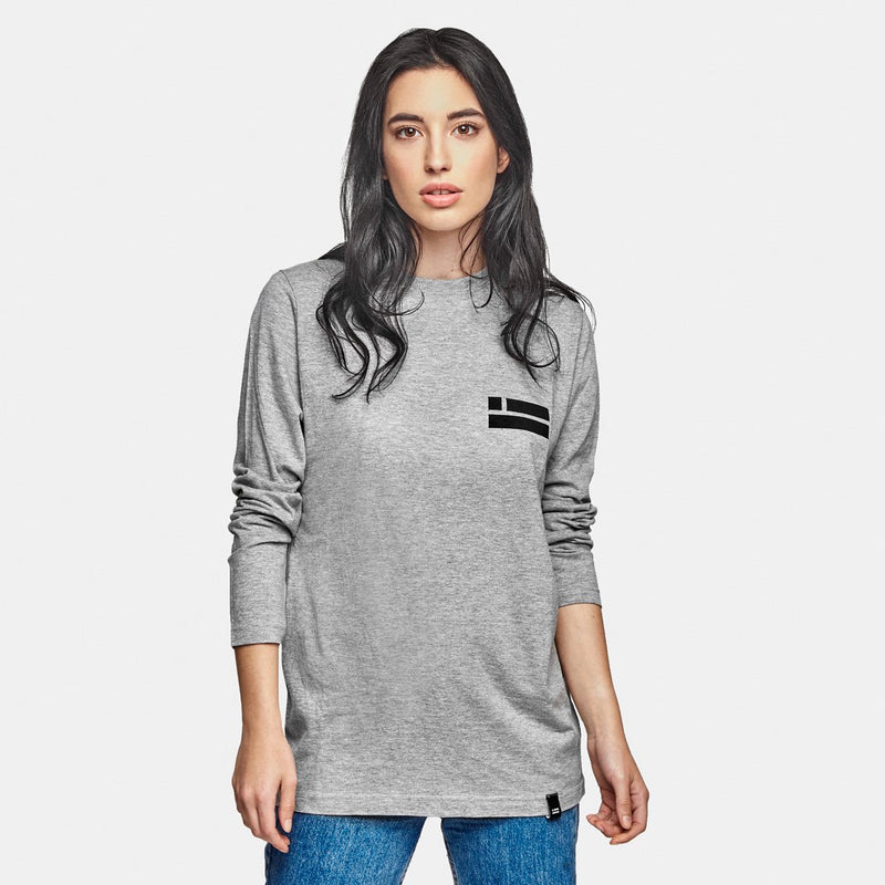Peak Long Sleeve T-Shirt Grey