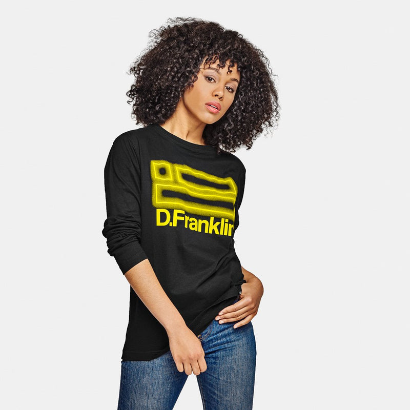 Neon Long Sleeve T-Shirt Black / Yellow