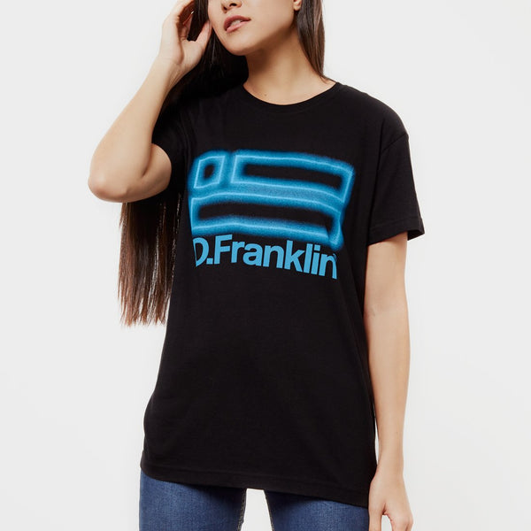 Neon T-Shirt Black / Blue