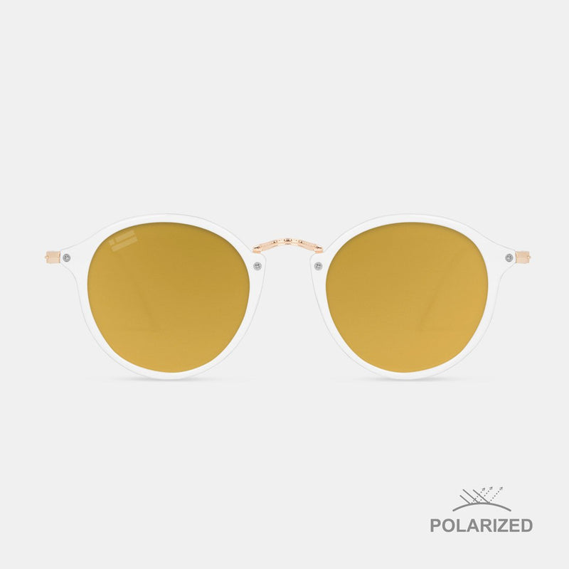 Roller Shiny White / Golden Brown Polarized