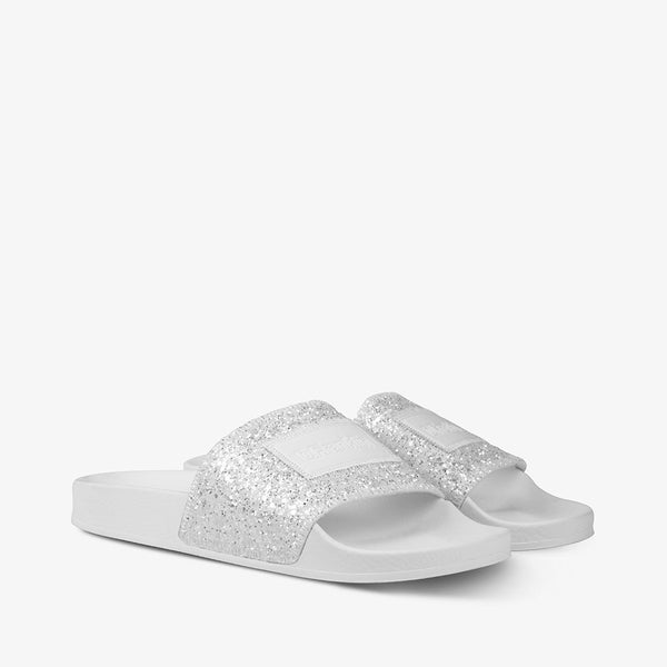 Glitter Label Slide White