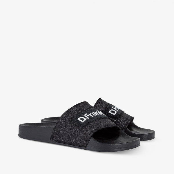 Sequins Slide Black