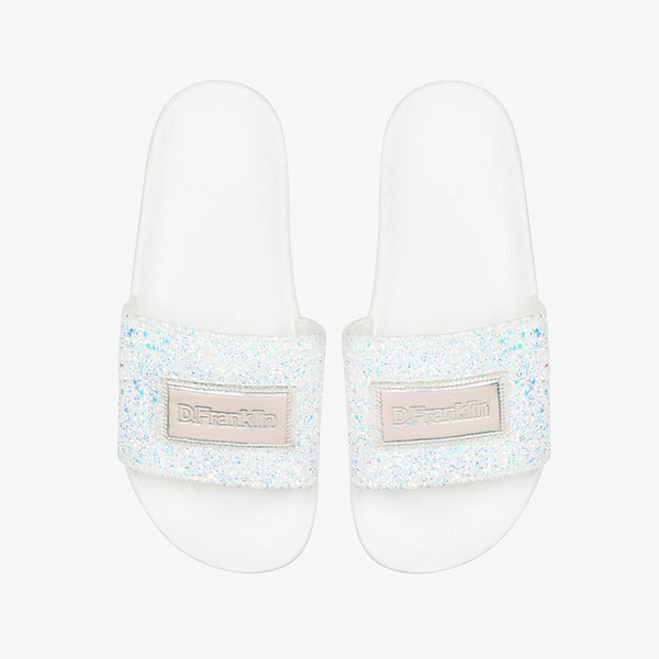 Sequins Slide White