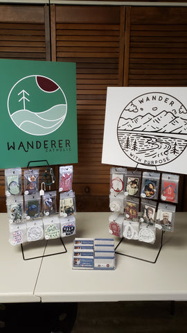 Wanderer Catholic Pop Up shop at Encounter Texas hosted by Adore Ministries and Steubenville Conferences