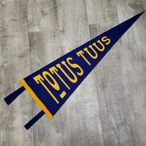 Wanderer Pennants | Totus Tuus | John Paul II | Wool Felt Pennant Banner | Catholic Saints