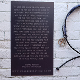 Wanderer Companion Bracelet Thomas Merton prayer card