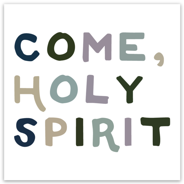 Come holy spirit catholic sticker wanderer catholic decals