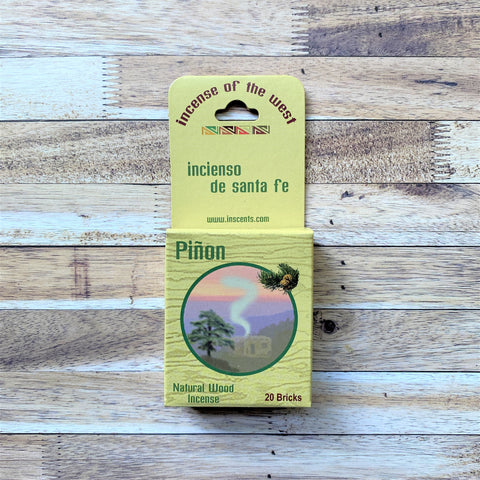 Pinon fragrance 20 count box natural wood incense
