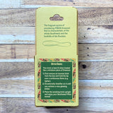 Pinon fragrance 20 count box natural wood incense rear of box