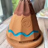 Teepee with 20 ct. Pinon cone natural wood incense - Free Shipping
