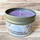 Lavender Soy Wax Candle 4 oz side view