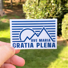 Load image into Gallery viewer, Ave Maria Gratia Plena Rectangle 3 x 2 Sticker