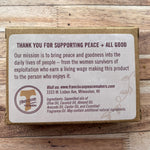 Grounding Sandalwood Bar Soap 4.5oz rear of package