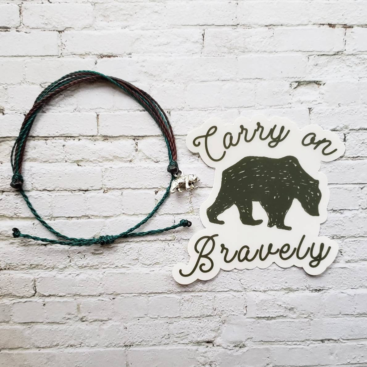 Wanderer Companion Bracelet | Carry on Bravely Wanderer Bear, Free Shipping USA