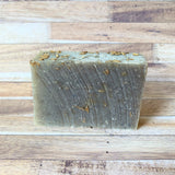Calming Lavender Bar Soap 4.5oz hand made with pieces of real lavender in bar