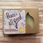 Franciscan Peacemaker's Lemon Verbena Bar Soap 4.5oz front of package