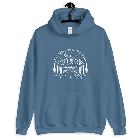 It is Good With My Soul Hoodie Indigo Blue