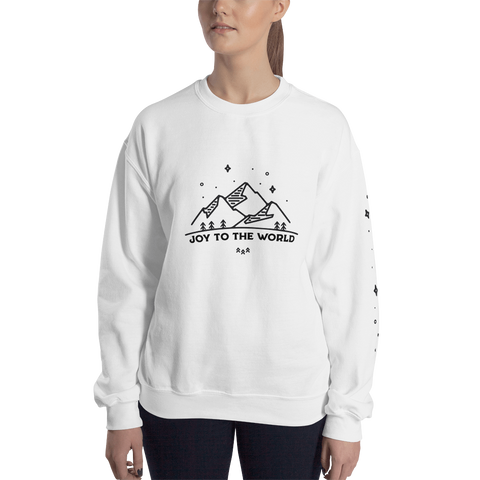 Joy to the World Sweatshirt White