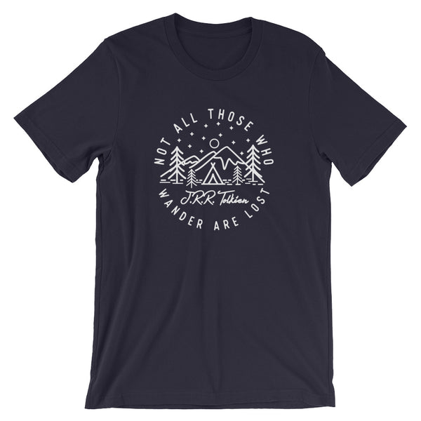 Not all Those who Wander are Lost - J.R.R. Tolkien ~ Short-Sleeve Unisex T-Shirt heather black