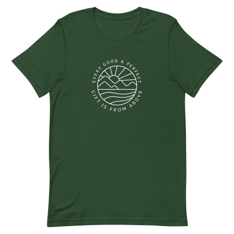 Every Good and Perfect Gift is From Above Short-Sleeve Unisex T-Shirt - Forest