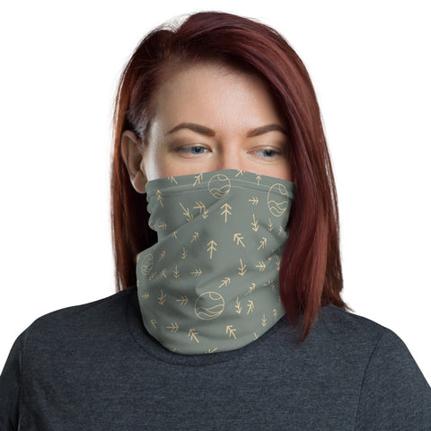 Wanderer Neck Gaiter Pine and Moon Landscape Bandana great for fishing