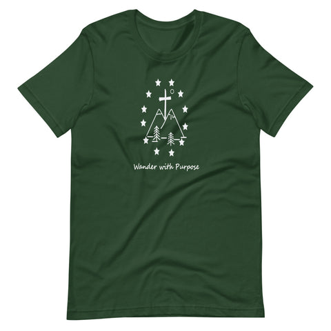 Miraculous Two Peak Short-Sleeve Unisex T-Shirt forest
