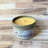 Pine Cone Soy Wax Candle 4 oz candle wick and candle