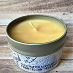 Pine Cone Soy Wax Candle 4 oz up close side view