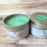 Christmas Tree Soy Wax Candle 4 oz two candles side by side