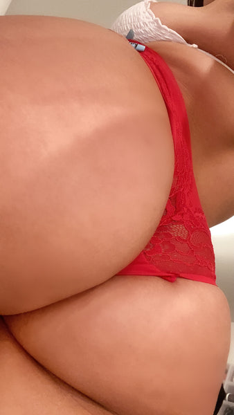 Used red lace soft panties