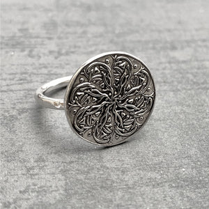 Round Silver Rings