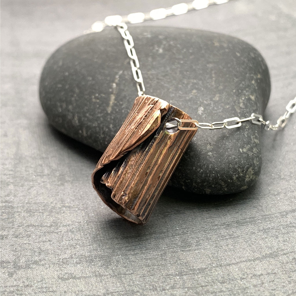 Rolled Bark Necklace