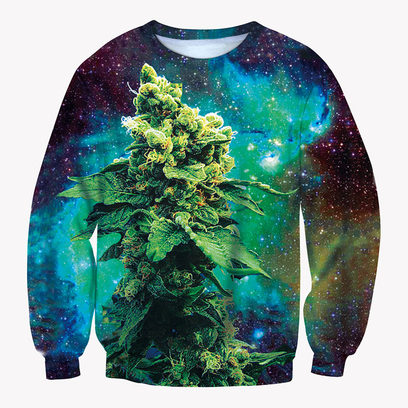 Weed Galaxy Sweatshirt