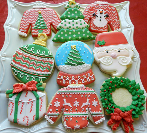 holiday basics class the decorating basics class 99 is a christmas theme and covers the basics of decorating and working with royal icing