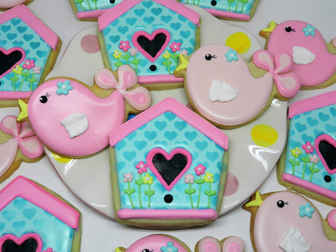 How To Decorate Cute Bird And Birdhouse Cookies The Flour Box