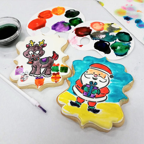 Check Out This Video To Learn How Stencil A Cookie Create PYO Canvas Also The New Sugarbelle Paint Palettes And Use Them