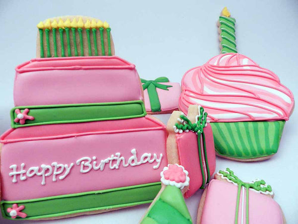 Wondrous Super Cute Pink And Green Birthday The Flour Box Funny Birthday Cards Online Alyptdamsfinfo