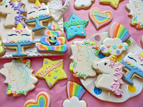 Flour Box Bakery — How to Decorate FIVE Unicorn Cookies with