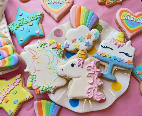 How to Decorate FIVE Unicorn Cookies with Videos! – The Flour Box