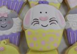 Easter Bunny Cupcake Cookie