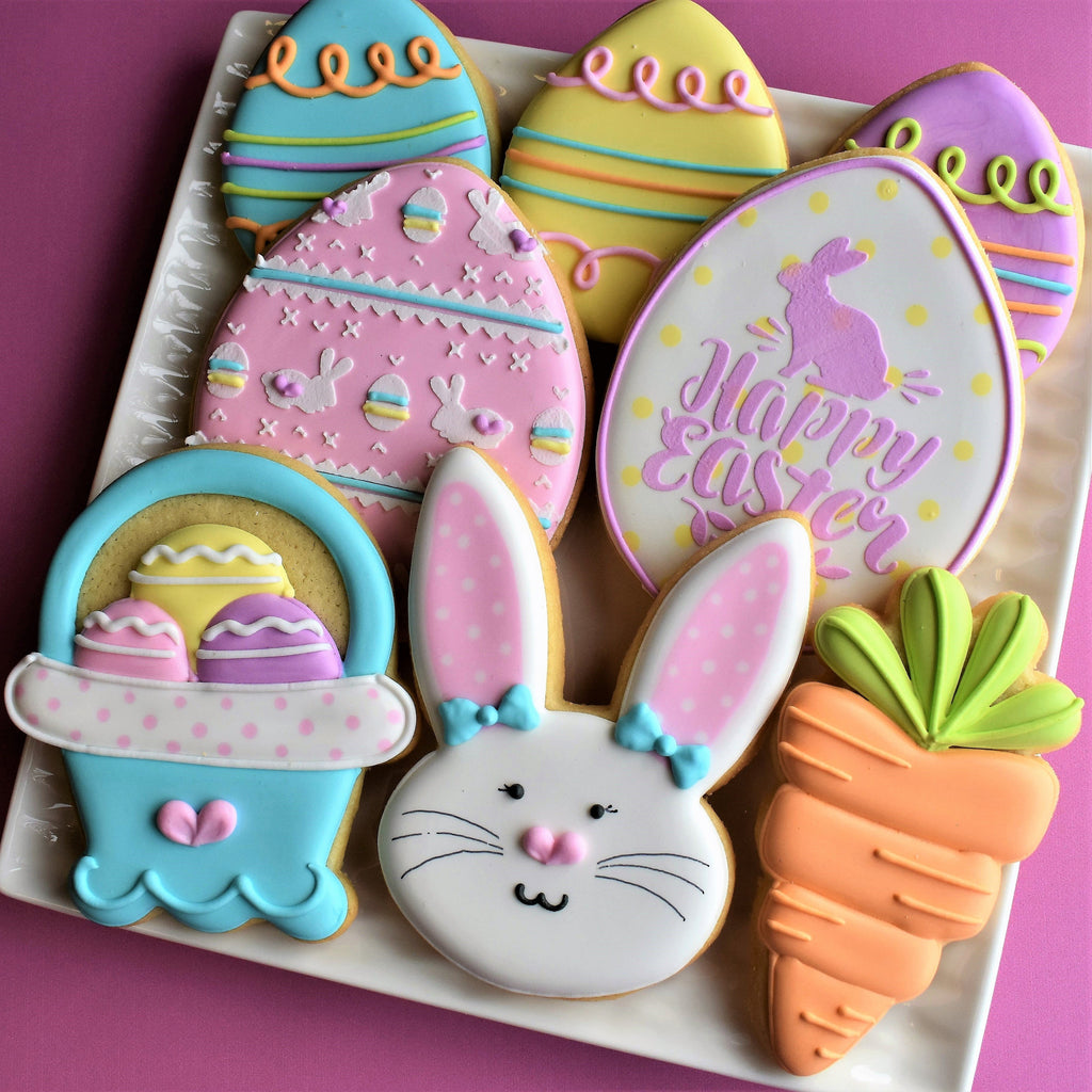 Flour Box Bakery Happy Easter Cookie Decorating Kit