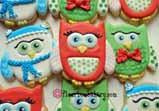 Holiday Owl Cookie