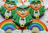 Leprechaun and Rainbow Cookie