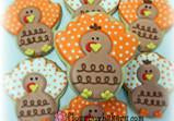 Polka Dot Turkey Cookie