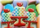 Rainbow Heart Cake Cookie