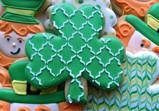 Shamrock Stencil Cookie