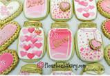 Pink and Gold Mason Jar Cookie