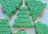 Swirly Christmas Tree Cookie