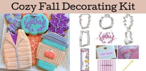 Cozy Fall Cookie Decorating Kit