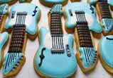 Electric Guitar Cookie